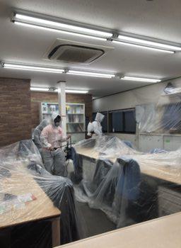 当社の事務所に抗ウイルス・抗菌コートを施工しました