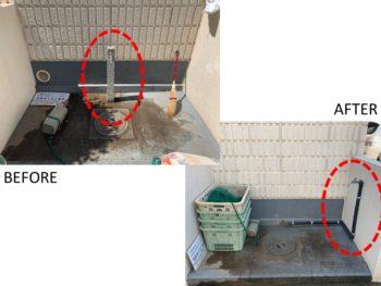 コンクリート水柱移設工事