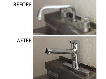 台所水栓交換 ハンドル式からレバー式へ