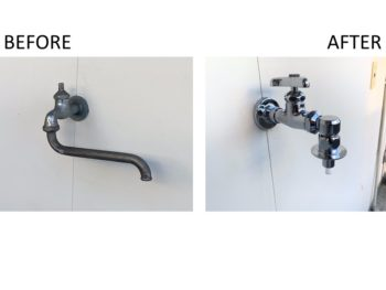 壁付水栓交換