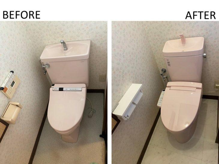 トイレは白ばかりではありません。好みや壁紙に合わせて色をチョイスできるんです。